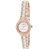 AK Anne Klein Women's 109396WTRG Ceramic Rosegold-Tone and White Swarovski Crystal Accented Watch - Watches - $90.50