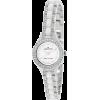 AK Anne Klein Women's 109397WTSV Ceramic Silver-Tone and White Swarovski Crystal Accented Watch - Watches - $79.24