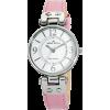 AK Anne Klein Women's 109443WTPK Silver-Tone Pink Leather Strap Watch - Relógios - $55.00  ~ 47.24€