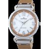 AK Anne Klein Women's 109651MPCM Swarovski Crystal Silver-Tone Mother-Of-Pearl Dial Camel Leather Strap Watch - Orologi - $48.50  ~ 41.66€