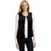 AK Anne Klein Women's Faux Fur Vest Black - Vests - $129.99