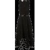 AKRIS PUNTO black with lace dots dress - 连衣裙 -