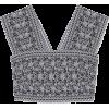 ALAÏA Cropped jacquard-knit top - Shirts -