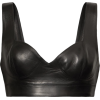 ALAÏA Leather bustier top - Shirts -