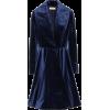 ALAÏA Silk-blend velvet princess coat - Kurtka -
