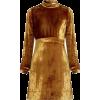 A.L.C. Gemma High-Neck Velvet Dress - Dresses -