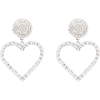 ALESSANDRA RICH Crystal heart drop earri - Naušnice -
