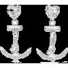ALESSANDRA RICH Oversized silver-tone cr - Earrings -