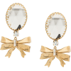 ALESSANDRA RICH bow drop clip-on earring - Orecchine -