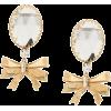 ALESSANDRA RICH bow drop clip-on earring - Earrings -
