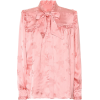 ALEXACHUNG Jacquard satin blouse - Long sleeves shirts -