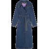 ALEXA CHUNG long denim trench coat - Kurtka -