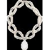 ALEXANDER MCQUEEN Crystal-embellished ch - Naszyjniki -
