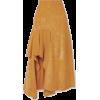 ALEXANDER MCQUEEN Draped suede skirt - Skirts - $3,690.00
