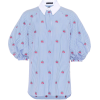 ALEXANDER MCQUEEN Floral-embroidered cot - Camisas -