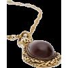 ALEXANDER MCQUEEN GARNET STONE NECKLACE - Necklaces -