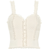 ALEXANDER MCQUEEN Lace-trimmed tank top - Tanks -