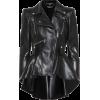 ALEXANDER MCQUEEN Peplum leather jacket - Jacket - coats -