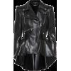 ALEXANDER MCQUEEN Peplum leather jacket - Jacket - coats - $4,825.00