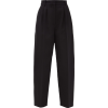 ALEXANDER MCQUEEN Pleated-front wool-ble - Capri & Cropped -