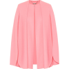 ALEXANDER MCQUEEN Wool and cashmere cape - Jacket - coats -