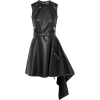 ALEXANDER MCQUEEN black leather dress - Dresses -