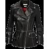 ALEXANDER MCQUEEN black leather jacket - Chaquetas -