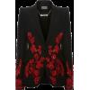 ALEXANDER MCQUEEN red embroidered velvet - Jacket - coats -