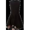 ALEXANDER MCQUEEN tartan panel dress - Dresses -
