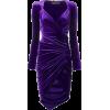 ALEXANDRE VAUTHIER ruched velvet dress - ワンピース・ドレス -