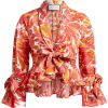ALEXIS Reena Floral Tie-Front Cropped To - Camicie (lunghe) -