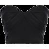 ALEX PERRY black satin bustier - Underwear -