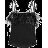 ALICE MCCALL Favour feather-trimmed sati - Camisas sem manga - 242.00€