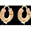 ALL BLUES Carved gold vermeil mini hoop - Earrings -