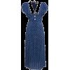 ALLESSANDRA RICH blue polka dot dress - 连衣裙 -