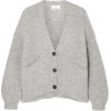 ALLUDE grey ribbed knit cardigan - Cardigan -
