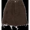 ALMAZ fitted denim skirt - Spudnice - $469.00  ~ 402.82€