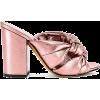 ALUMNAE Windsor Knot Block Heel in Metal - Classic shoes & Pumps -