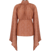 AMAL AL MULLA orange bell sleeved blouse - Košulje - kratke -