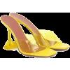 AMINA MUADDI Lupita Pvc Sandals - Yellow - Sandały -