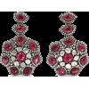 AMRAPALI 18-karat gold ruby and diamond - Uhani -