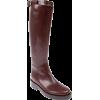 ANN DEMEULEMEESTER brown boot - Škornji -