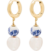 ANNI LU Heloise floral hoop earrings - Earrings -