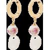 ANNI LU Heloise pearl hoop earrings - Earrings -