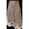ANTONIO MARRAS embellished lace midi ski - Skirts -