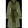 APPARIS orange olive sheer trench coat - Jacket - coats -
