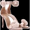 AQUAZZURA Sinatra 105 fur-trimmed sandal - Sandals -