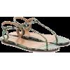 AQUAZZURA Almost Bare snakeskin sandals - Sandalen -