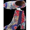 AQUAZZURA Ankle Boots Blue Kaia Embroide - Сопоги -