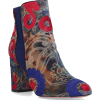 AQUAZZURA Ankle Boots Blue Kaia Embroide - Boots -